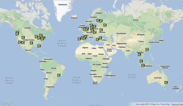 XLHost CDN edge server map